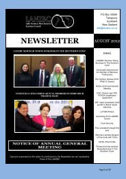 NEWSLETTER - Latin American New Zealand Business Council