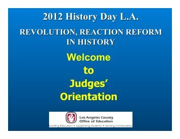 Orientation (PDF) - History Day LA - Los Angeles County Office of ...