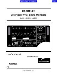 CARDELL® Veterinary Vital Signs Monitors