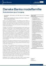 Skattelettelser giver fremgang - Danske Analyse - Danske Bank