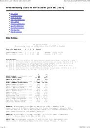 Braunschweig Lions vs Berlin Adler (Jun 16, 2007) - NewYorker Lions
