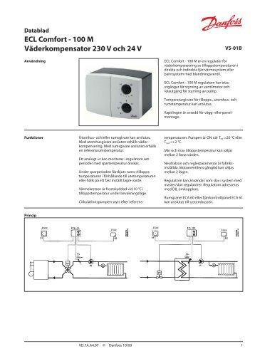 ECL Comfort - 100 M Väderkompensator 230 V och 24 V