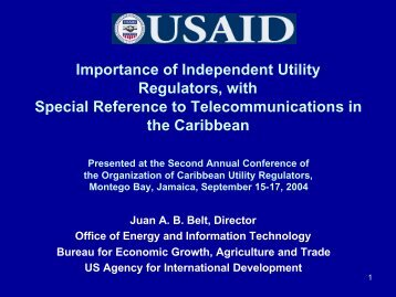 Importance of Independent Utility Regulators, with Special ... - OOCUR