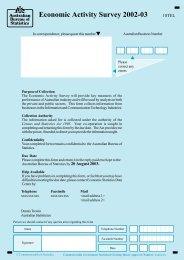 Economic Activity Survey 2002-03 - National Statistical Service
