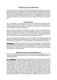 Erklärungen zu den Richtlinien  Die Geschütze: Allgemeine - smkv.ch