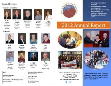 2012 Annual Report - Sierra Vista Chamber of Commerce