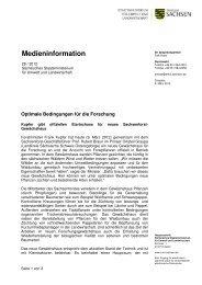 PM Gewächshaus - Sächsisches Staatsministerium für Umwelt und ...