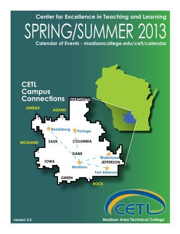 CETL Campus Connections - Madison Area Technical College