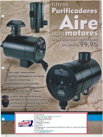 Filtros de aire Lanss.pdf - grupoidimex.com.mx