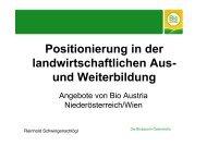 (Microsoft PowerPoint - Vortrag Positionierung von Bio ... - Waldviertel