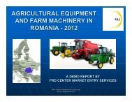 agricultural equipment and farm machinery in romania - 2012 - LIAA