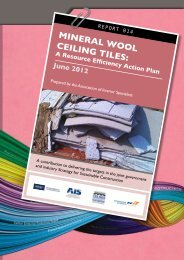 MINERAL WOOL CEILING TILES: - Association of Interior Specialists