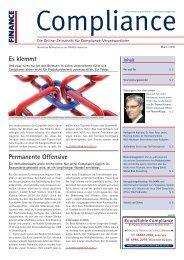 (PDF) | Ausgabe März 2010 - Compliance