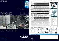 VAIO SZ - Sony Style