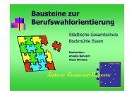 Bausteine zur Berufswahlorientierung - Stiftung Partner für Schule ...