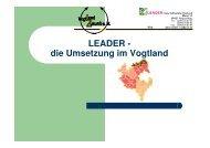 LEADER - die Umsetzung im Vogtland