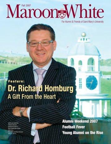 Dr. Richard Homburg - Saint Mary's University