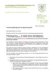 Anschreiben (Stand 2013/2014) - Braunschweiger Jägerschaft e.V.