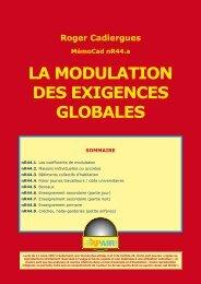 LA MODULATION DES EXIGENCES GLOBALES