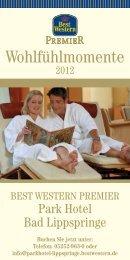 Wohlfühlmomente 2012 - Best Western Premier Park Hotel