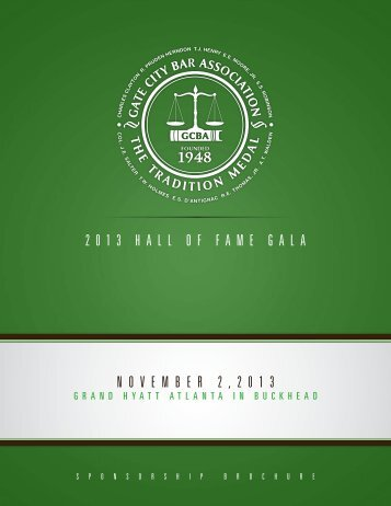 2013 hall of fame gala november 2 , 2 0 1 3 - The Gate City Bar ...