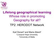 Promoting Geography - HERODOT Network for Geography in ...