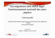 l'environnement normatif des sans- papiers - Université de Neuchâtel