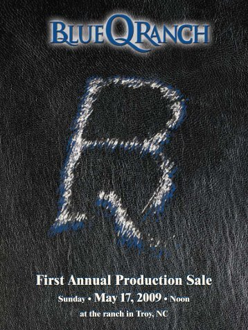 First Annual Production Sale - Angus Journal