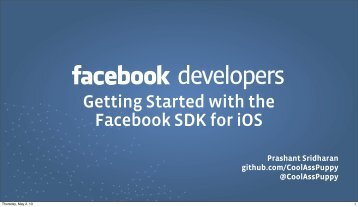 Getting Started with the Facebook SDK for iOS