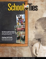 School Ties: 2007, Spring Issue - St. Michaels University School