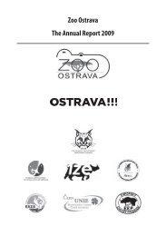 Zoo Ostrava The Annual Report 2009
