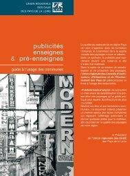 publicités enseignes & pré-enseignes - URCAUE Pays de la Loire
