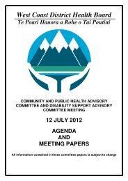 agenda - West Coast District Health Board