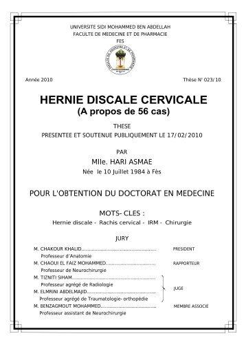 HERNIE DISCALE CERVICALE - Toubkal