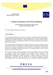 Council Conclusions on Western Balkans - Europa