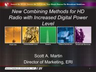 New Combining Methods for HD Radio with Increased Digital ... - SET