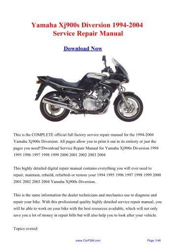 Yamaha Xj900s Diversion 1994-2004 Service Repair ... - CarFSM.com