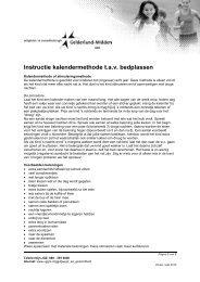 Zindelijkheid - Kalendermethode tav bedplassen (incl ... - VGGM