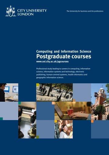 Postgraduate courses - School of Informatics - City University