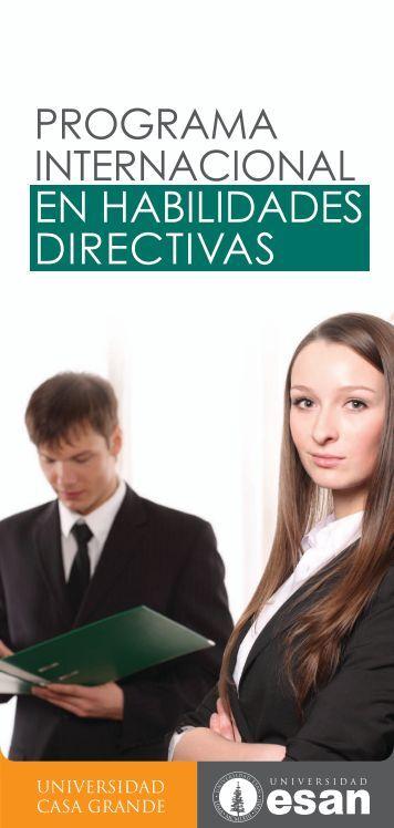 EN HABILIDADES DIRECTIVAS - Universidad Casa Grande
