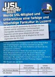 zum Flyer - United Supporters Luzern