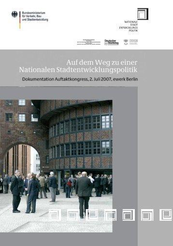 Auf dem Weg zu einer nationalen Stadtentwicklungspolitik
