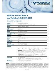 Inflation Protect Bond 4 der Volksbank AG 2009-2015