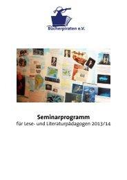 Hier gehts zum Seminarprogramm. - Bücherpiraten eV