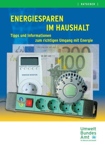 """Energiesparen im Haushalt"" in pdf-Format - OBI"