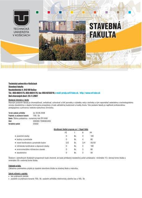 stavebná fakulta stavebná fakulta stavebná fakulta - TUKE