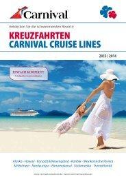 Katalog 2013/2014 - Carnival Cruise Lines