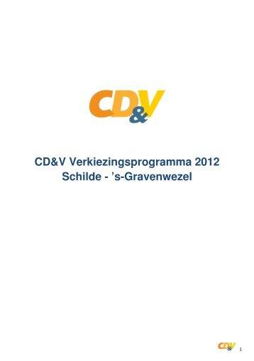 CD&V Verkiezingsprogramma 2012 Schilde - 's-Gravenwezel