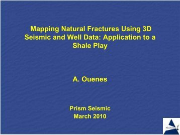 Mapping Natural Fractures