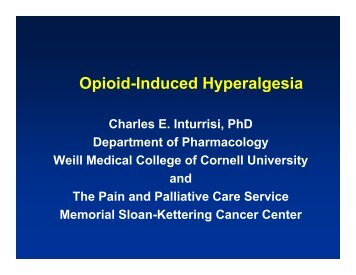 Opioid-Induced Hyperalgesia - Department of Pain Medicine and ...